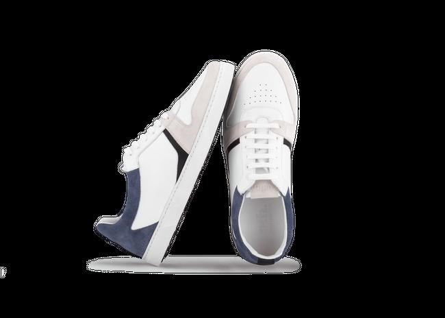 Chaussure en glencoe cuir blanc / suède bluette - Oth num 1