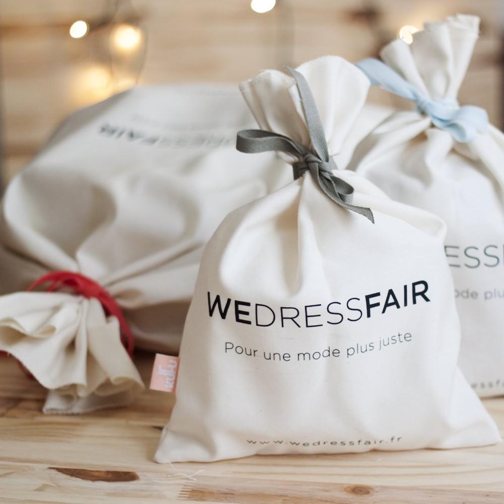 Sac cadeau kufu en coton bio - grand - WeDressFair