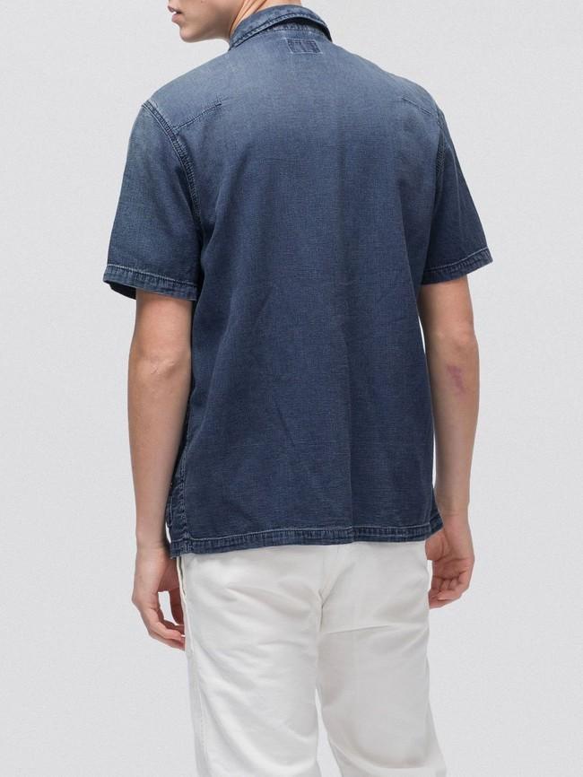 Chemise manches courtes jean en coton bio - svante cuban - Nudie Jeans num 1