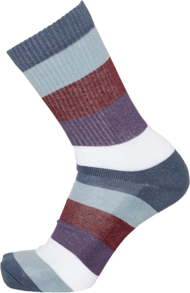Pack 2 paires chaussettes rayées et bleu marine en coton bio - linden - Knowledge Cotton Apparel