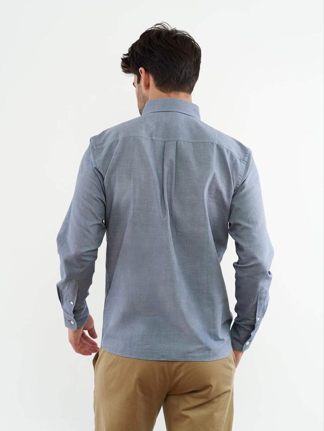 La chemise chambray | coton fair trade, tissage français - Lautrec num 2