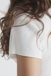 T-shirt avec boutons blanc en coton bio - white rib boom - Thinking Mu - 4
