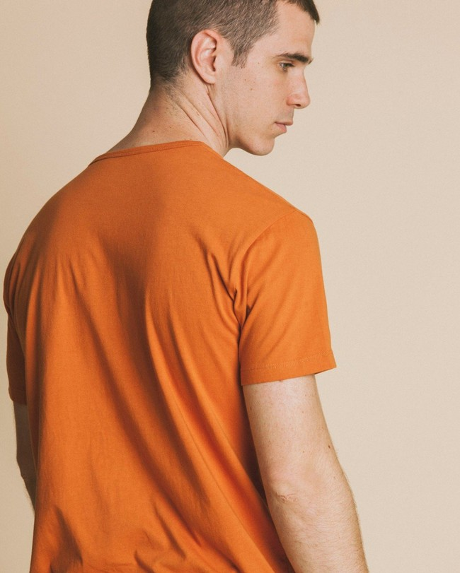 T-shirt imprimé terracotta en coton bio - human rights - Thinking Mu num 2