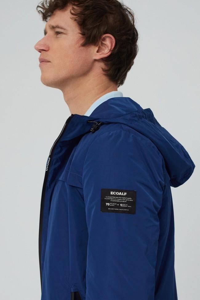 Veste déperlante bleue en polyester recyclé et sorona - dalven nautic - Ecoalf num 4