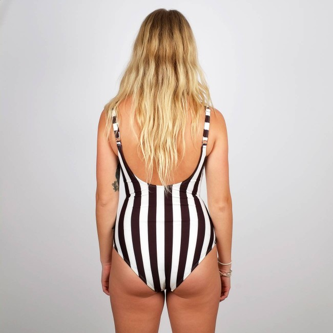 Maillot une pièce rayures - big stripes - Dedicated num 2