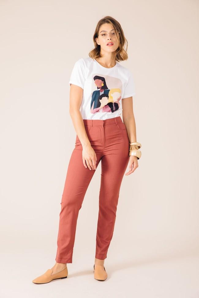 Pantalon tailleur new-york rose brique - 17h10 num 1