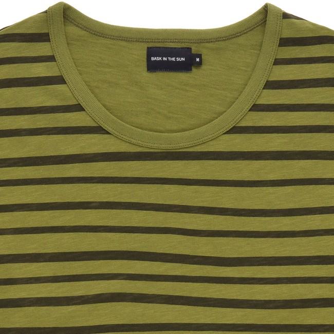 T-shirt en coton bio kaki esperanza ls - Bask in the Sun num 1