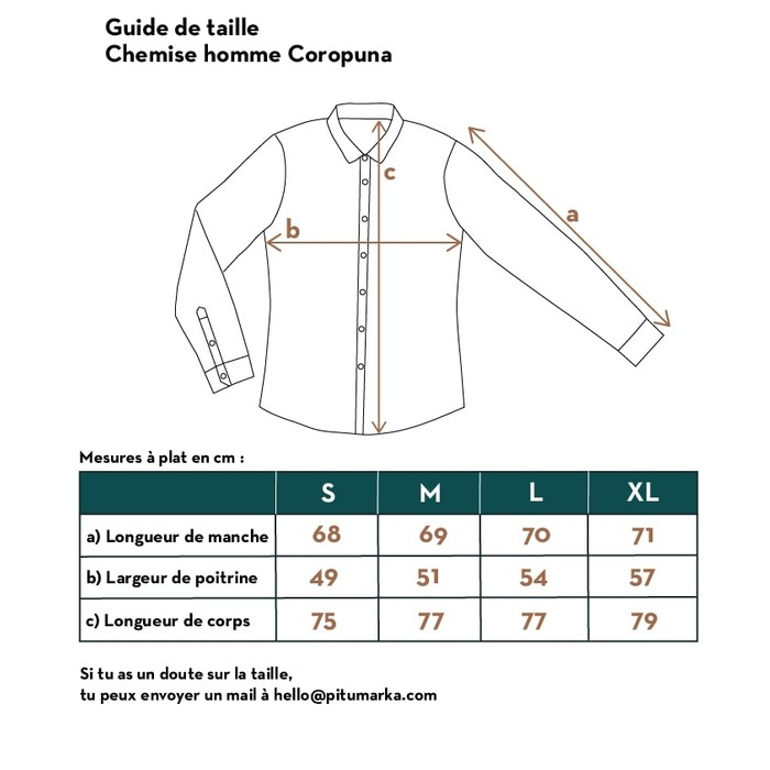 Guide de taille Pitumarka