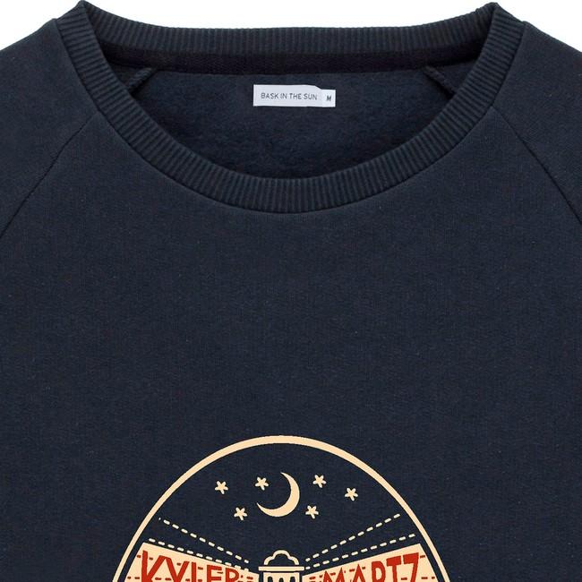 Sweat en coton bio black oktopus - Bask in the Sun num 1