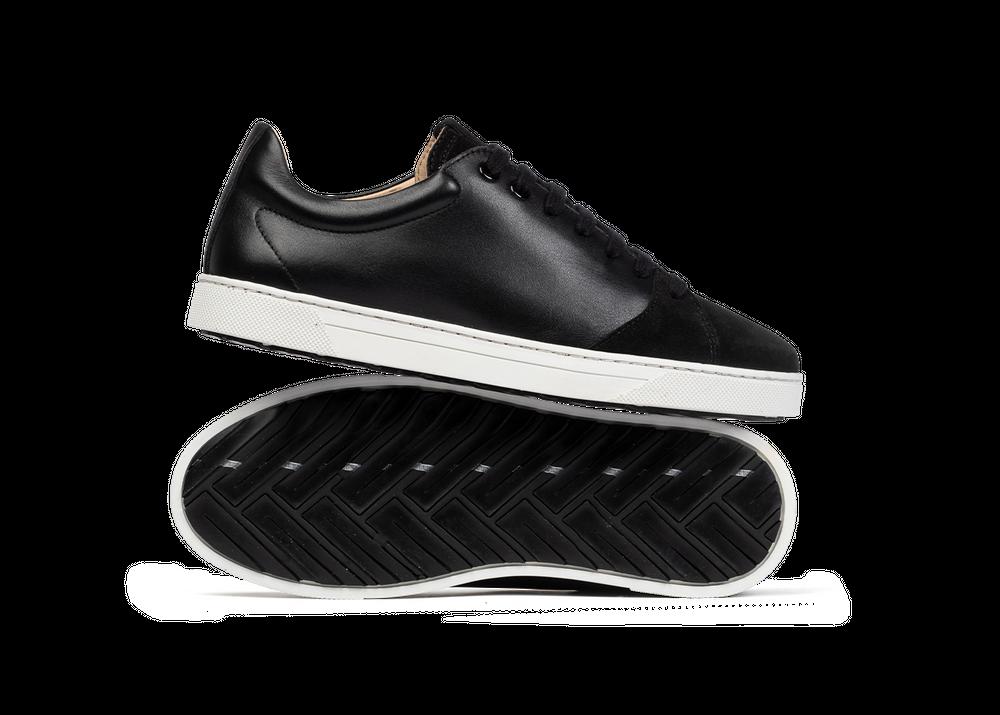 Chaussure en gravière cuir noir / suède noir - Oth
