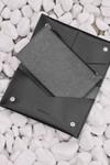 Portefeuille noir en cuir recyclé - flat purse - Walk with me - 2
