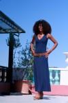 Robe longue lyane bleu marine - Thelma Rose - 4