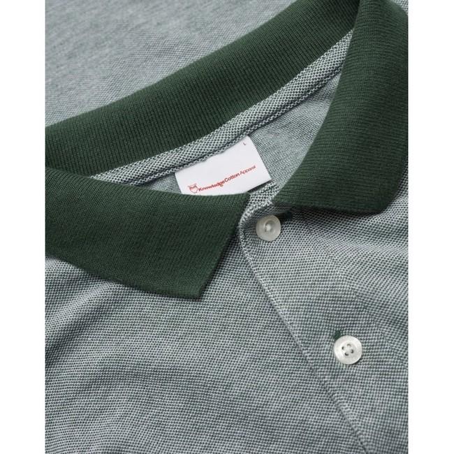 Polo vert forêt en coton bio - rowan - Knowledge Cotton Apparel num 3