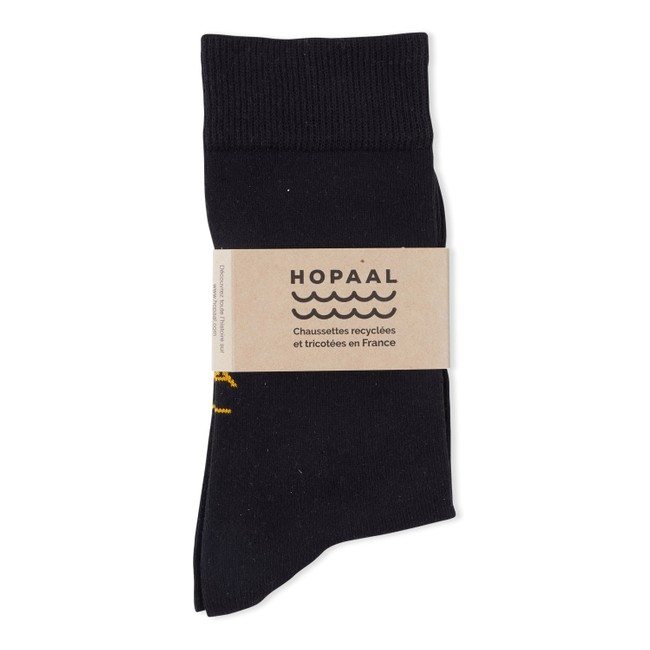 Chaussettes recyclées - black step - Hopaal