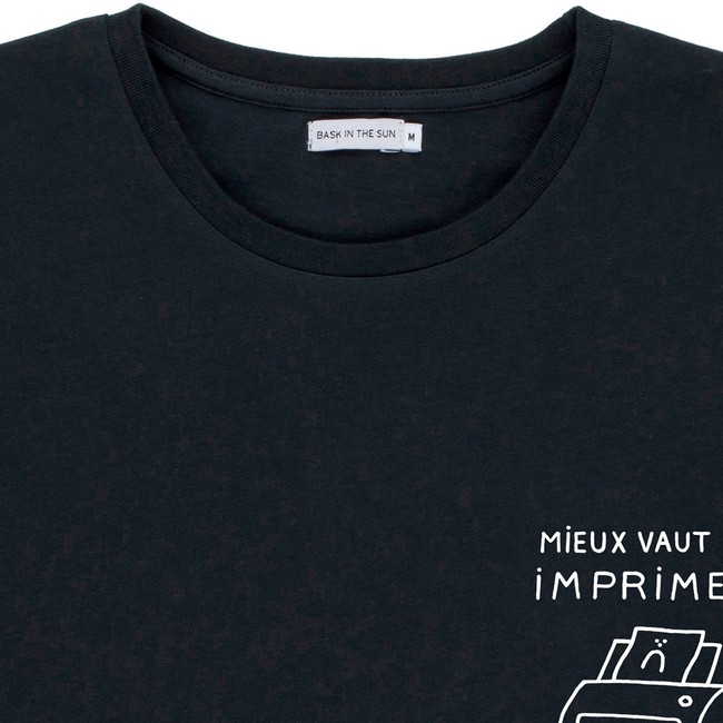 T-shirt en coton bio black printer - Bask in the Sun num 1
