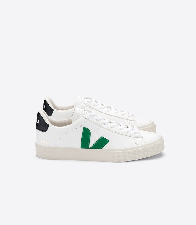 Baskets campo extra white emeraude black - Veja