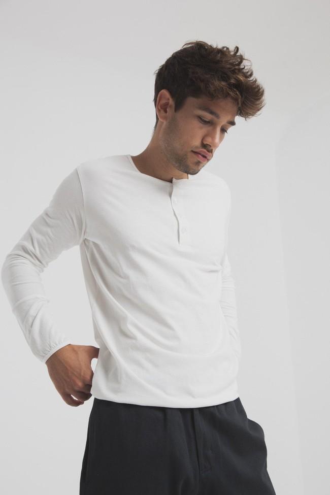 T-shirt blanc manches longues coton biologique - pristine basic baker tee - Thinking Mu