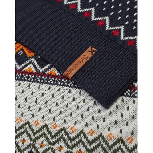 Pull à motifs en coton bio - xmas knit - Knowledge Cotton Apparel num 3