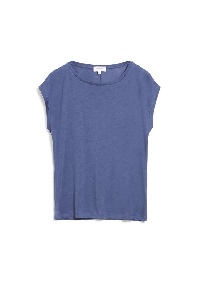 T-shirt bleu indigo en tencel - jilaa - Armedangels num 4