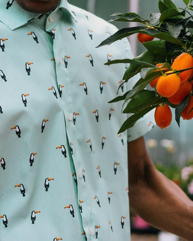 Tropical tucan printed shirt - Brava Fabrics num 8