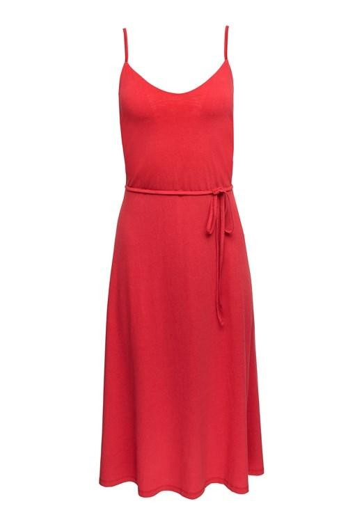 Robe longue rouge en tencel et coton bio - marcy - People Tree num 2