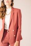 Veste tailleur boston rose brique - 17h10 - 1