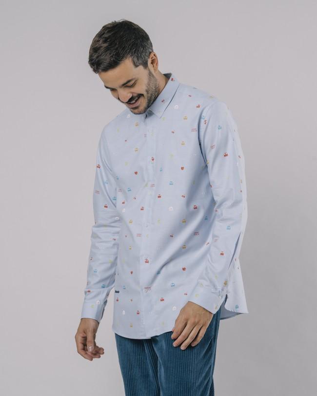 Oxford-shirt pac-man™ x brava - Brava Fabrics