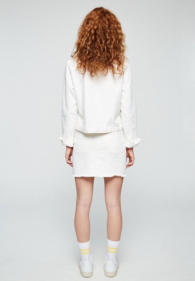 Jupe en jean blanc en coton bio - liaara - Armedangels num 2