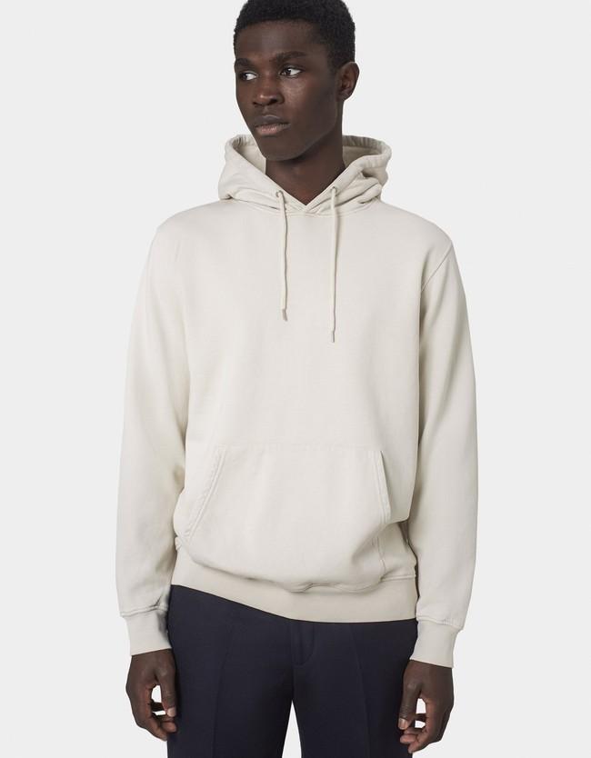 Hoodie écru en coton bio - ivory white - Colorful Standard num 5