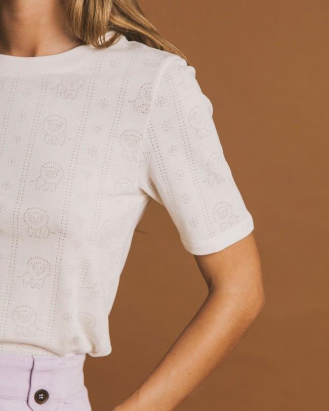 T-shirt écru en tencel et coton bio - mara - Thinking Mu num 1