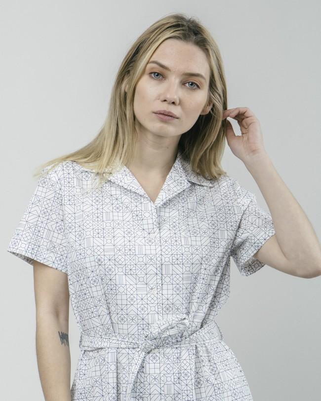Portuguese tiles shirt dress - Brava Fabrics num 4