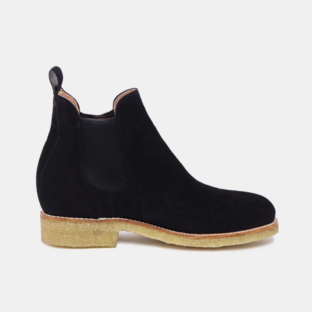 Armando chelsea natural boot black suede - Cano