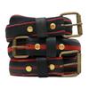 Belt vélo rouge et noire fine - La Vie est Belt - 1