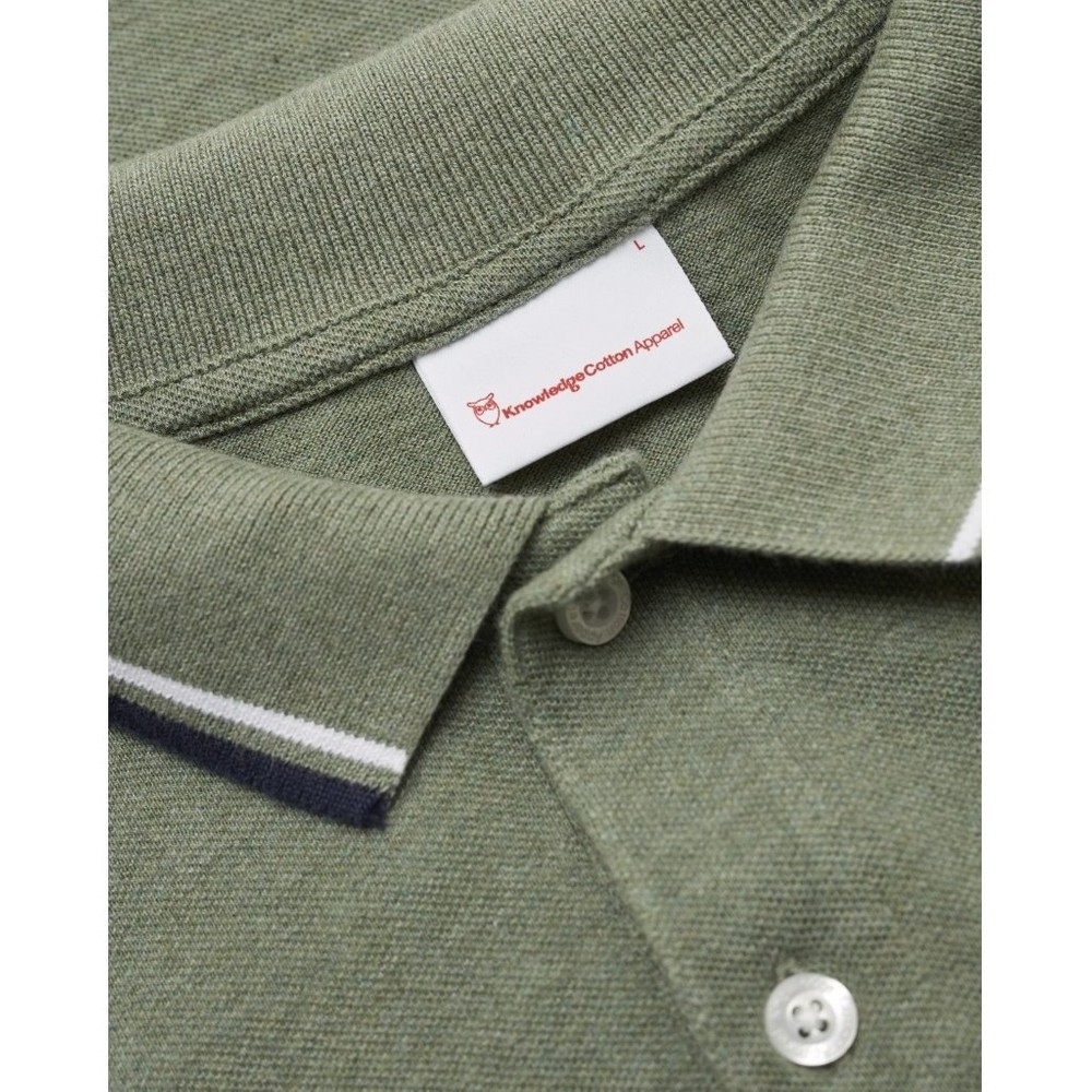 Polo vert en coton bio - rowan - Knowledge Cotton Apparel