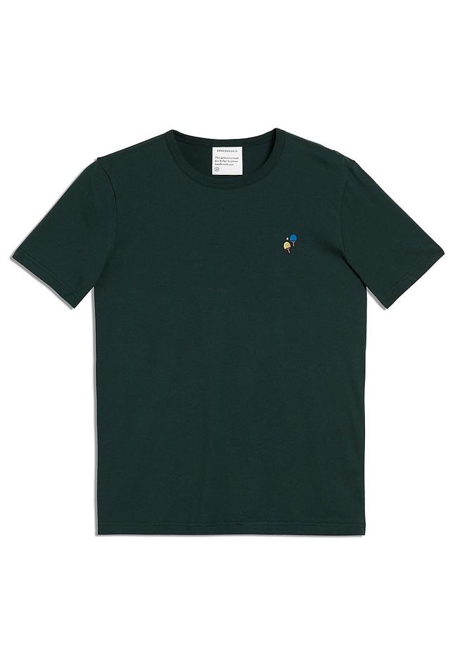 T-shirt vert foncé en coton bio - paul ping pong - Armedangels num 4