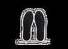 Chaussure en glencoe cuir blanc / suède smog - Oth - 4