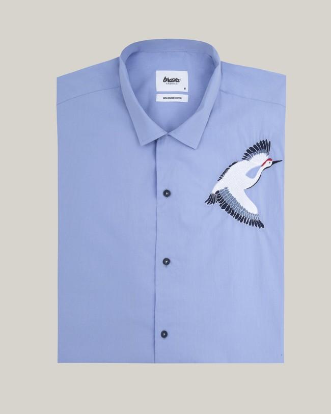 Crane for luck essential shirt - Brava Fabrics num 1