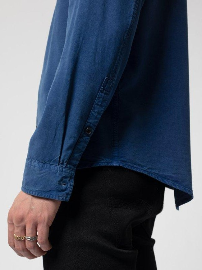 Chemise bleue en twill  - chuck smooth - Nudie Jeans num 3