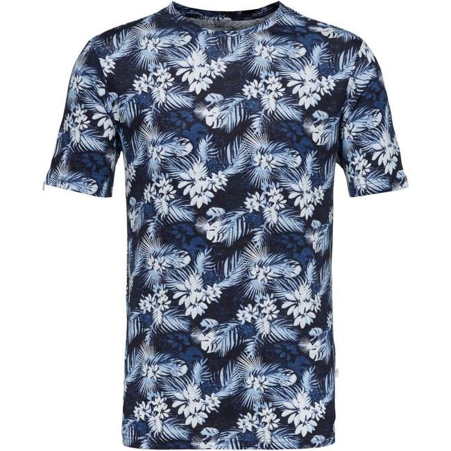 T-shirt imprimé en lin bio - Knowledge Cotton Apparel