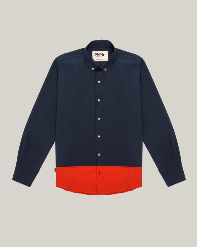 Navy tile essential shirt - Brava Fabrics num 1