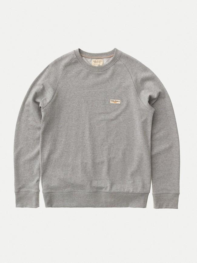 Sweat gris en coton bio - samuel - Nudie Jeans num 4