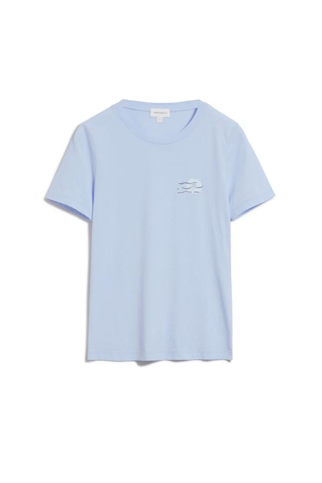 T-shirt imprimé bleu ciel en coton bio - lidaa small elements - Armedangels