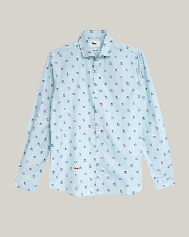 90's diskettes printed shirt - Brava Fabrics num 2