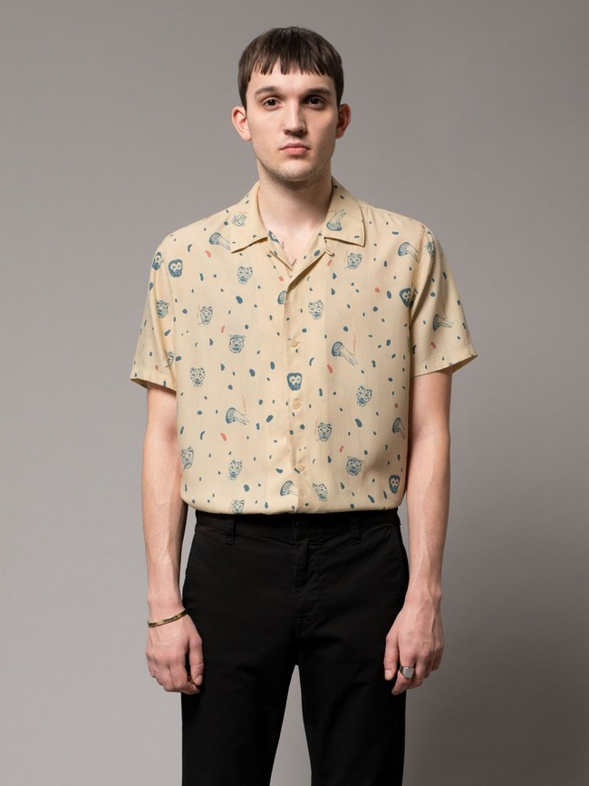 Chemise manches courtes à motifs en coton bio - arvid misfit - Nudie Jeans num 5