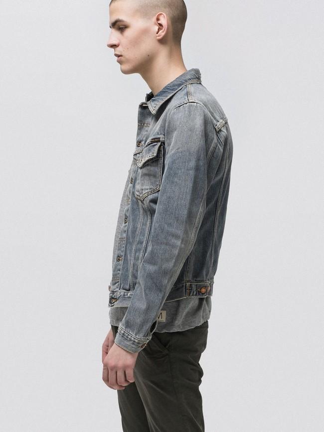 Veste en jean coton bio - billy shimmering - Nudie Jeans num 3