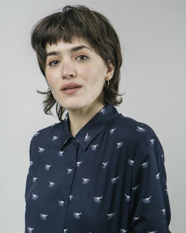 Japanese sky printed blouse - Brava Fabrics num 4