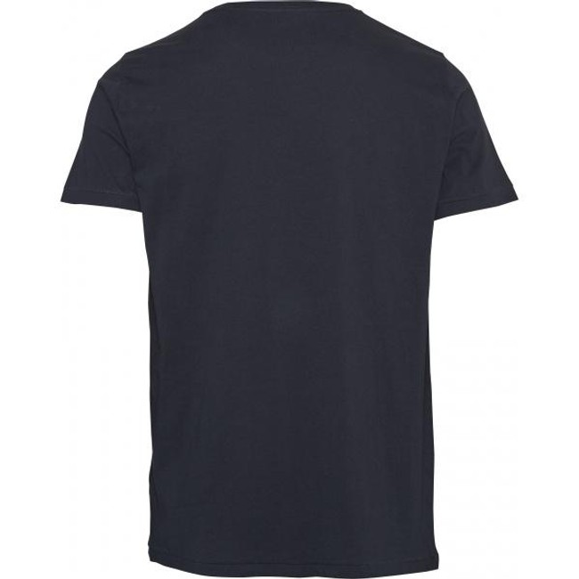 T-shirt bleu nuit en coton bio - Knowledge Cotton Apparel num 1