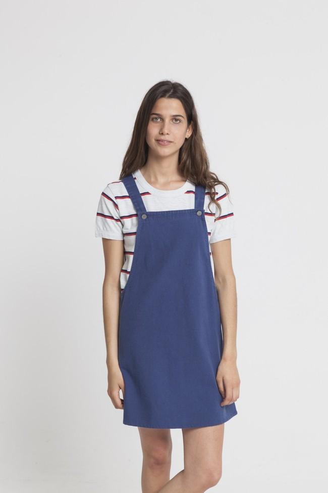 Robe unie bleue en coton bio - amelie - Thinking Mu