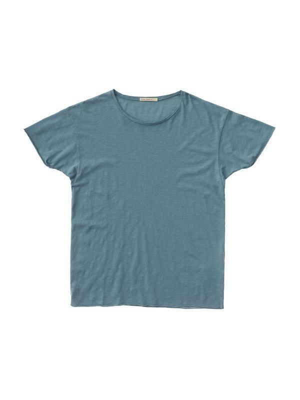 T-shirt bleu en coton bio - roger - Nudie Jeans num 3