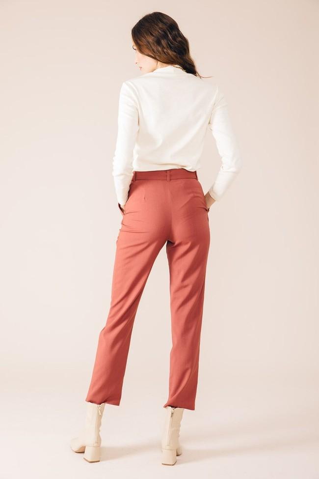 Pantalon tailleur casablanca rose brique - 17h10 num 2